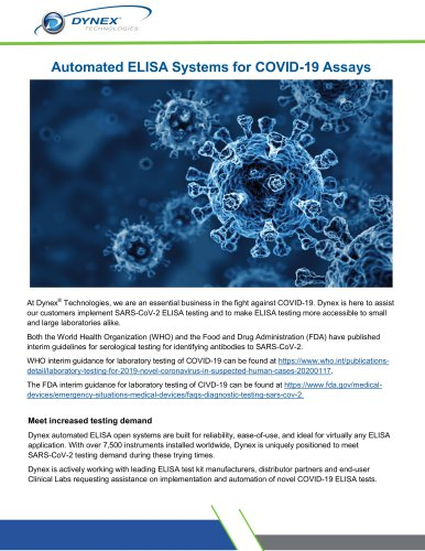 Automated ELISA Systems for COVID-19 Assays