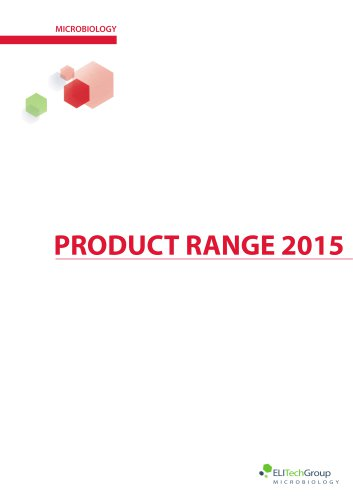 Microbiology - product range 2015