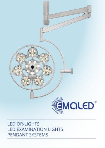 EMA-LED GmbH, OR-Lights, Examination lights, Pendant system