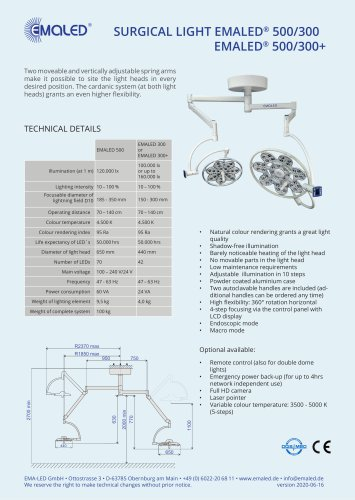 EMALED® 500/300 or EMALED® 500/300+