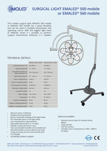 EMALED® 500 mobile / EMALED® 560 mobile