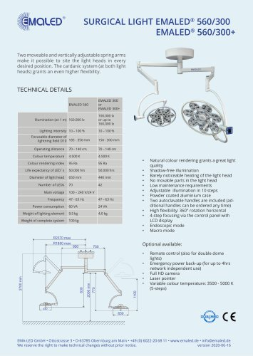 EMALED® 560/300 or EMALED® 560/300+