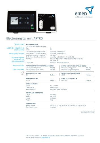 Electrosurgical unit ARTro
