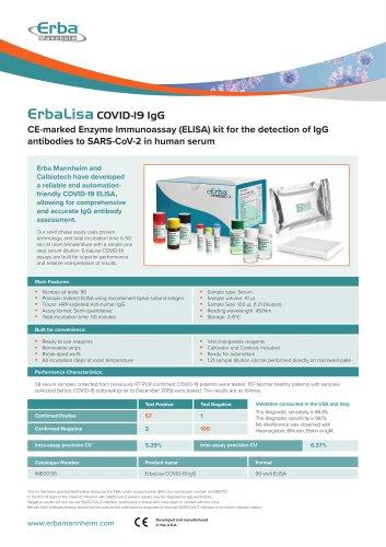 ErbaLisa COVID-19 IgG