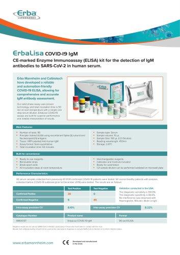 ErbaLisa COVID-19 IgM