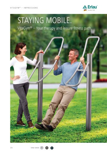 STAYING MOBILE. VitaGym® – Your therapy and leisure fitness path.