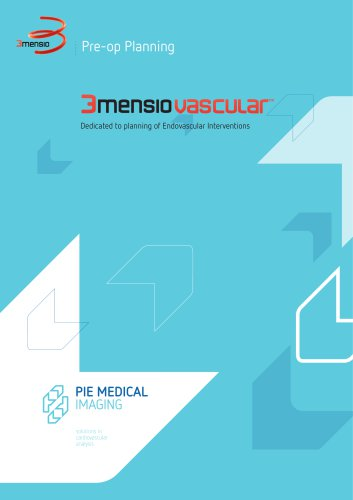 3mensio CT - Endovascular - Brochure