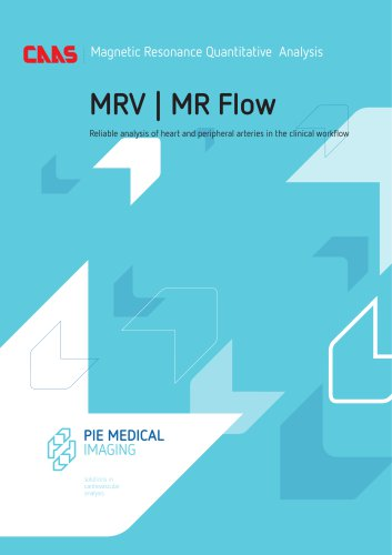 CAAS MR - Magnetic Resonance Quantitative Analysis - MRV-MR Flow - Brochure