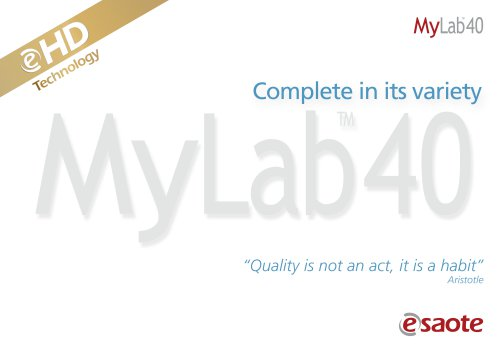 MyLab™40 eHD Technology - Brochure