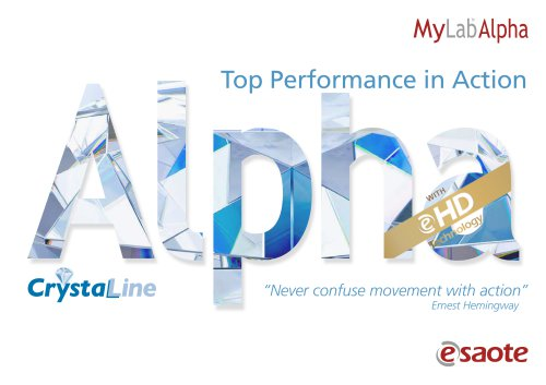MyLab™Alpha eHD & CrystaLine Technology - Brochure