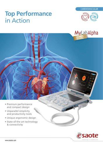 MyLab™Alpha eHD Technology - Cardiovascular Leaflet