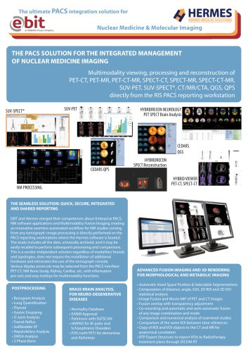 The ultimate PACS integration solution for Nuclear Medicine & Molecular Imaging - Brochure