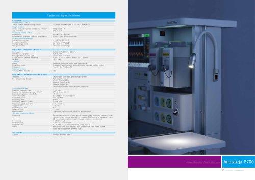 Anesthesia apparatus type ANASTAZJA 8700