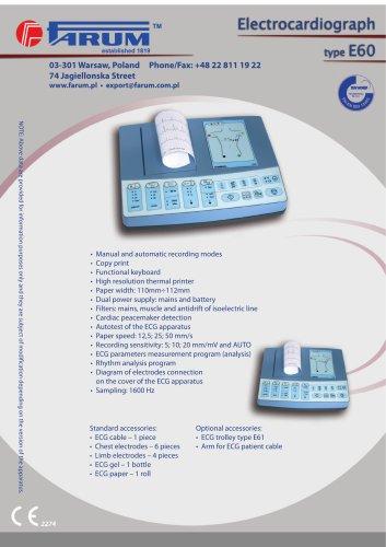 Electrocardiograph type E60