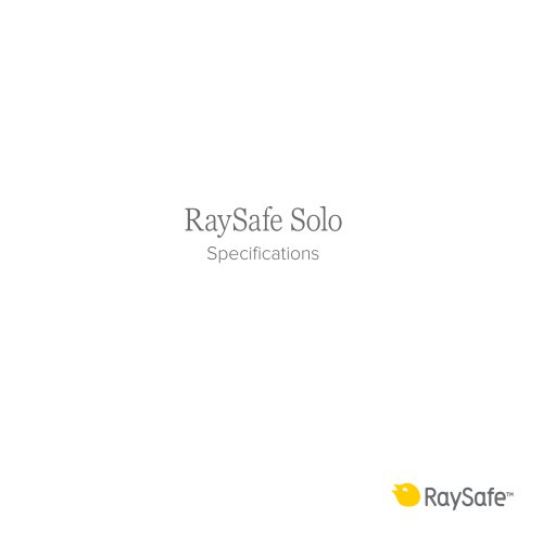 RaySafe Solo  Specifications