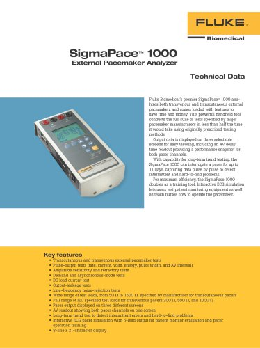 SigmaPace™ 1000