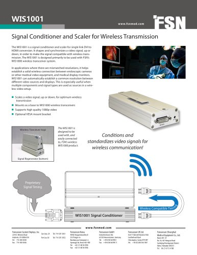 WIS1001 Signal Conditioner and Scaler for Wireless Transmission