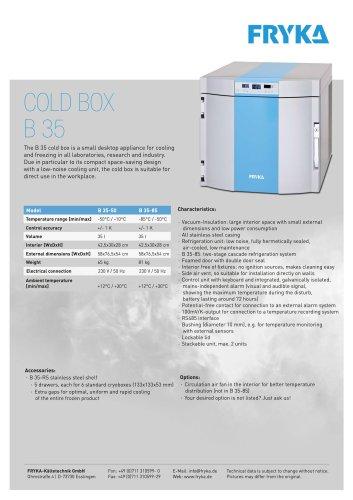 B 35 Cold box