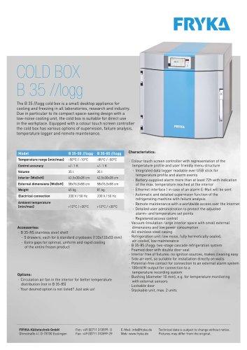 B 35 //logg Cold box