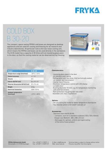 Cold box B 30-20