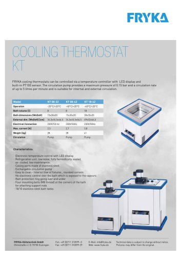 COOLING THERMOSTATS