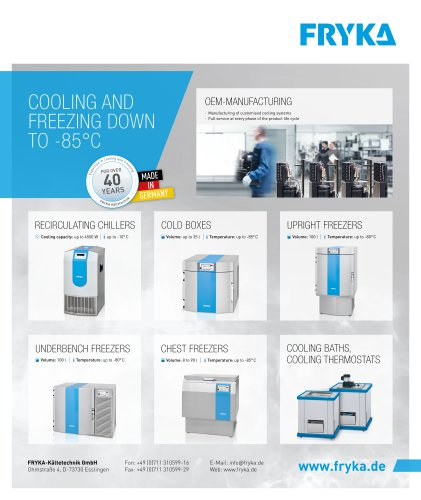 FRYKA product program
