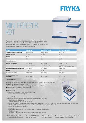 KBT mini-freezers