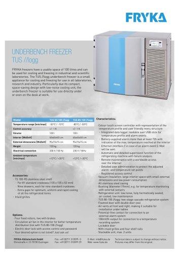 TUS //logg underbench freezer