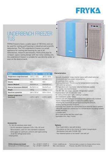 TUS underbench freezers