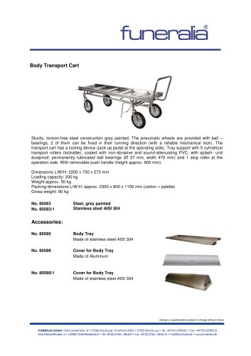 Body Transport Cart