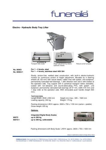 Electro - Hydraulic Body Tray Lifter