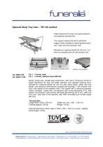 Hydraulic Body Tray Lifter - TÜV GS certified - 1