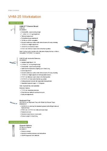 VHM-25 Workstation