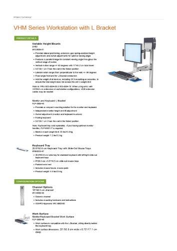 VHM Series Workstation with L Bracket