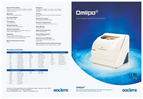 Specific Protein Analyzer Omlipo Brochure