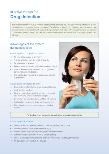 Additional Insert Drug detection GBO Saliva Collection System