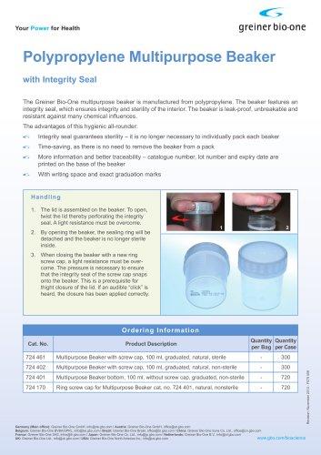 Polypropylene Multipurpose Beaker