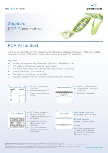 Sapphire PCR Consumables