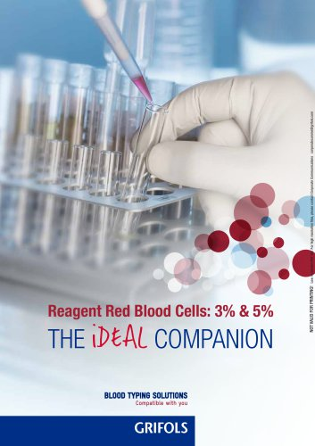 Reagent red blood cells 3% & 5% brochure