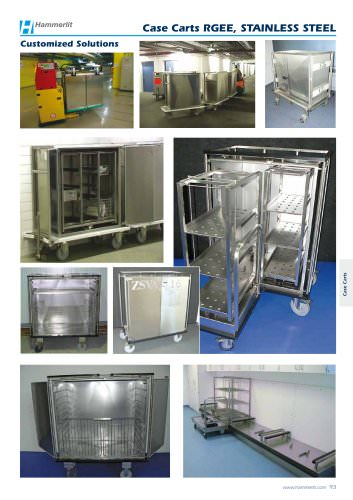 Case Carts RGEE, STAINLESS STEEL