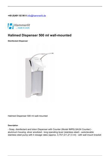 Halimed Dispenser 500 ml wall-mounted