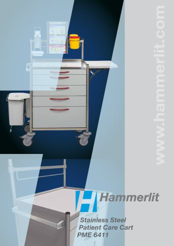 Stainless Steel Patient Care Cart PME 6411