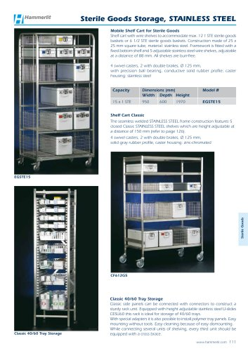 Sterile Goods Storage, STAINLESS STEEL