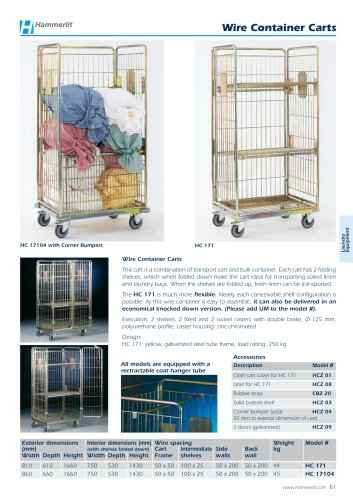Wire Container Carts