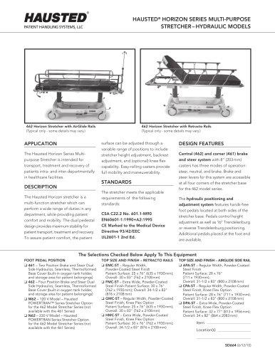 Horizon Series Retracto Rail Stretchers