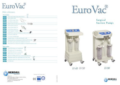EUROVAC - Surgical Suction Pumps
