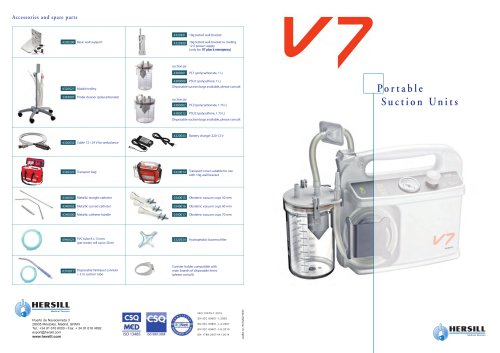 V7 - Portable Suction Units