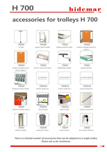 ACCESSORIES FOR TROLLEYS H700