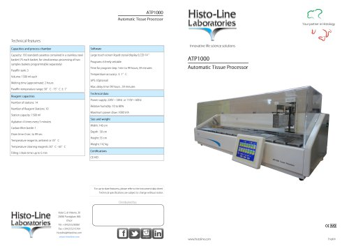ATP 1000 Linear Tissue Processor