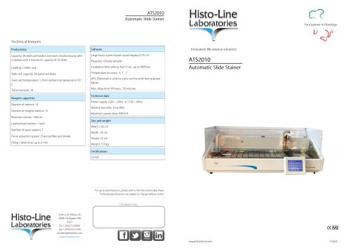 Histo-Line ATS 2010 Automatic Tissue Stainer
